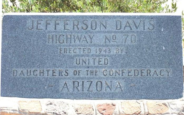 Jefferson Davis Highway in Arizona