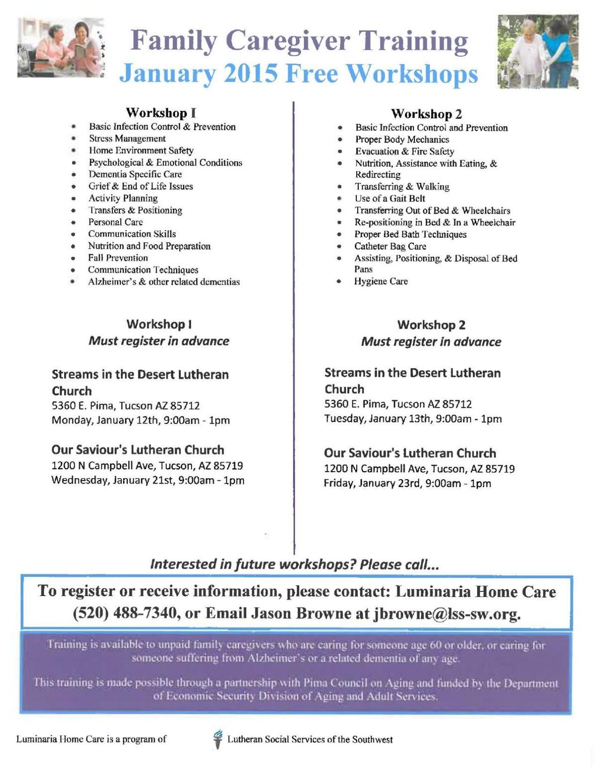 Caregiver Training Tucson
