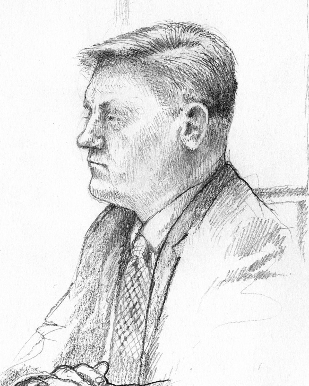 Sketch of Lonnie Swartz