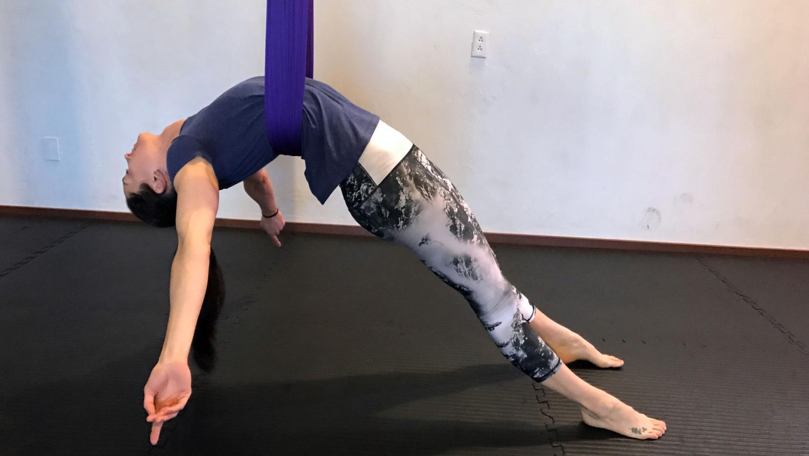We tried an aerial fitness class and it kicked our butts ...