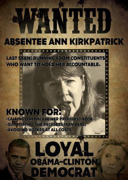 "Kirkpatrick ""wanted"" poster"
