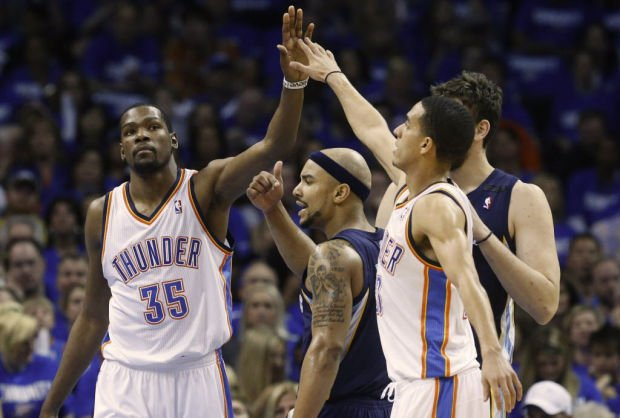 NBA Playoffs: Oklahoma City 93, Memphis 91: Thunder steals one away