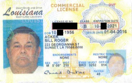 Bill Roger Acker Sr. (LE)