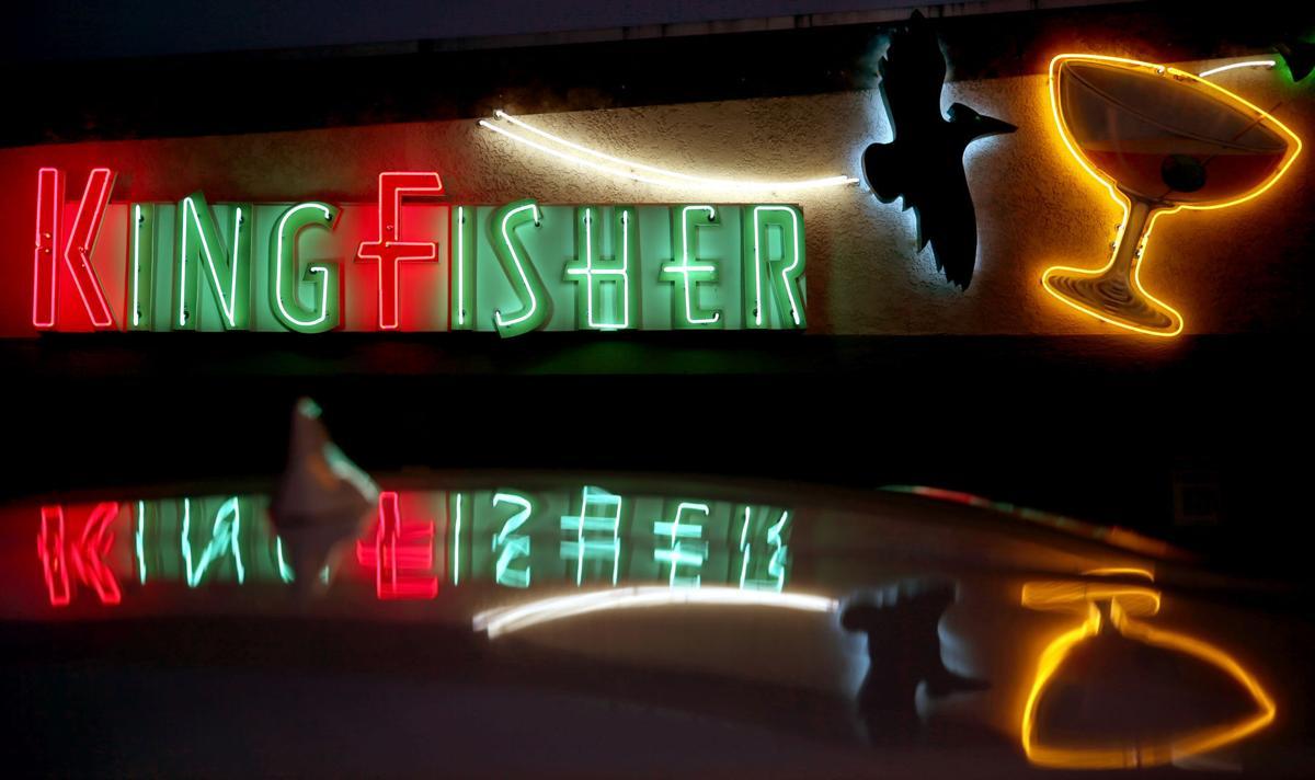 Kingfisher neon sign