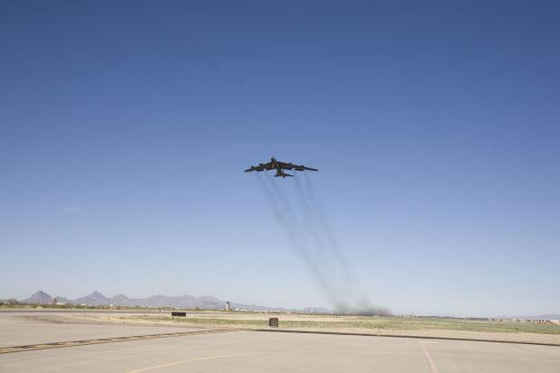 Regenerated B-52 takes flight from Boneyard