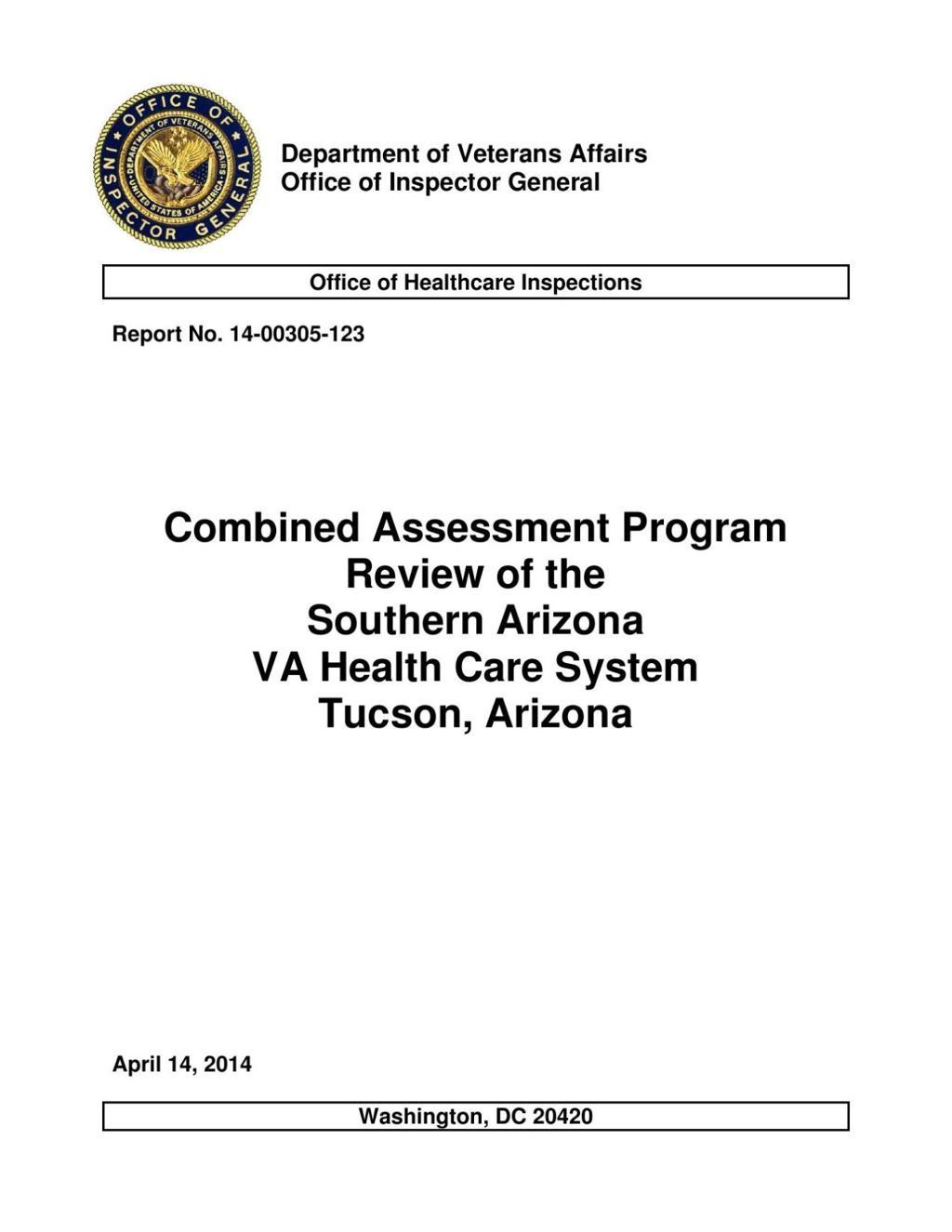 Tucson VA hospital outperforms Phoenix in internal quality