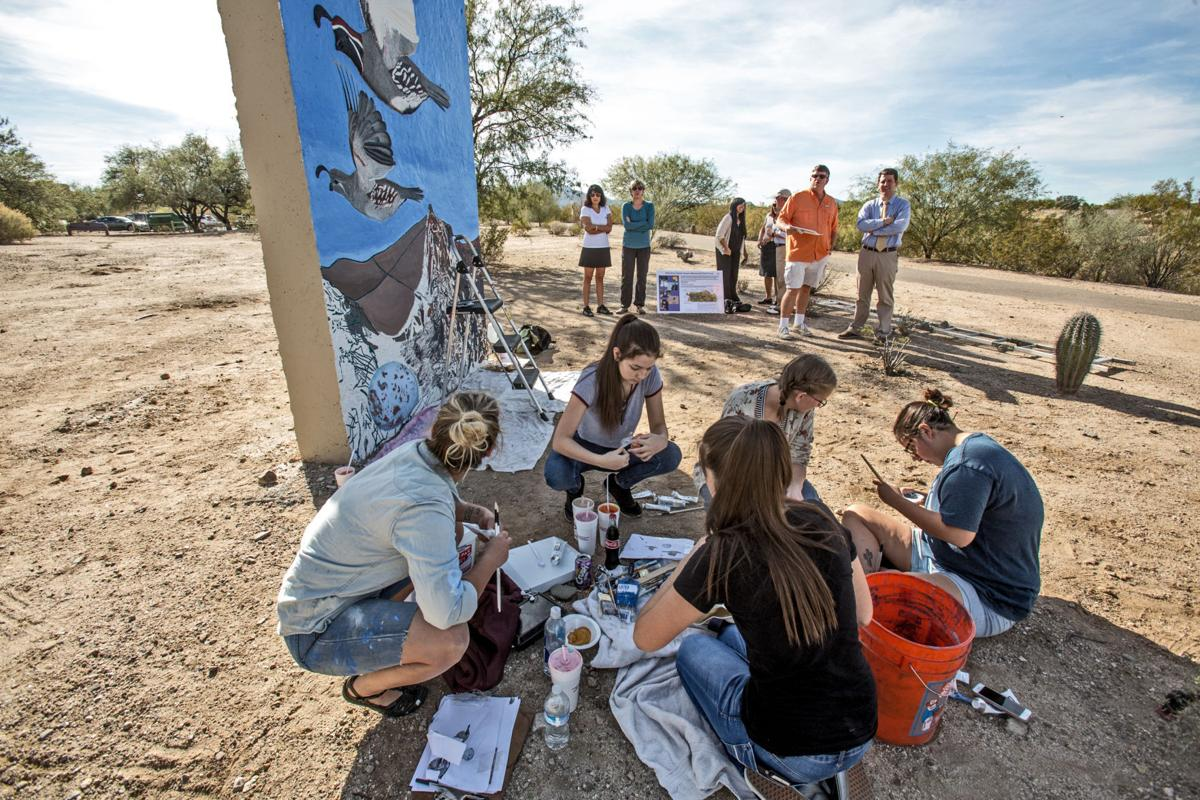 City High students paint memorial