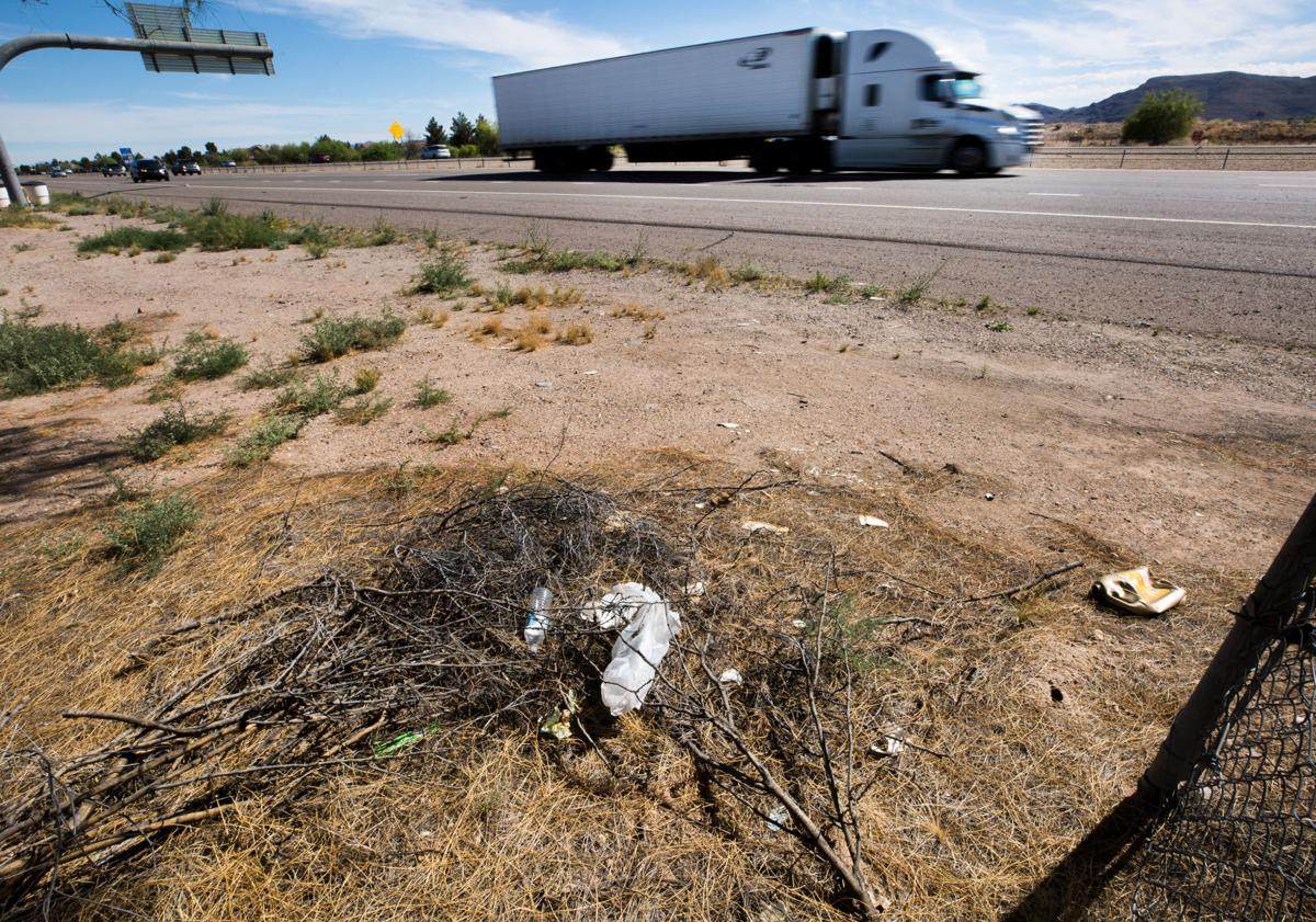 Litter on state highways