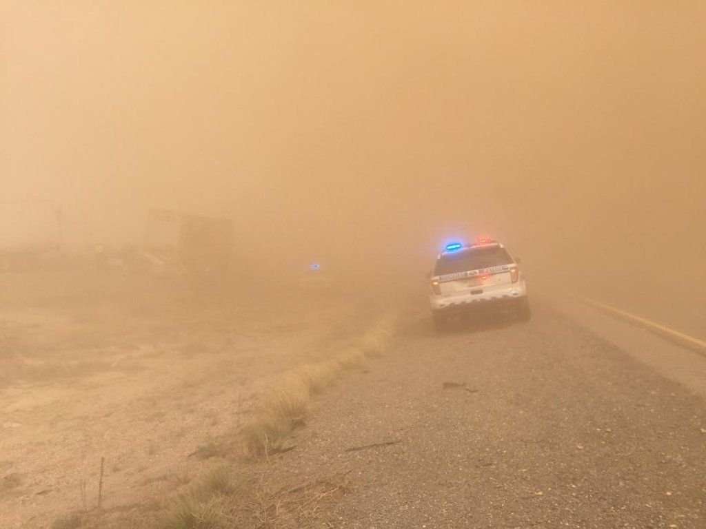 Dust storm on I-10