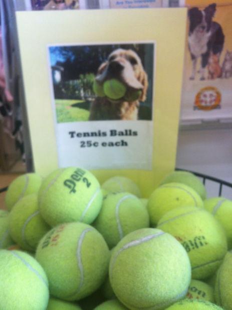 Humane Society tennis balls