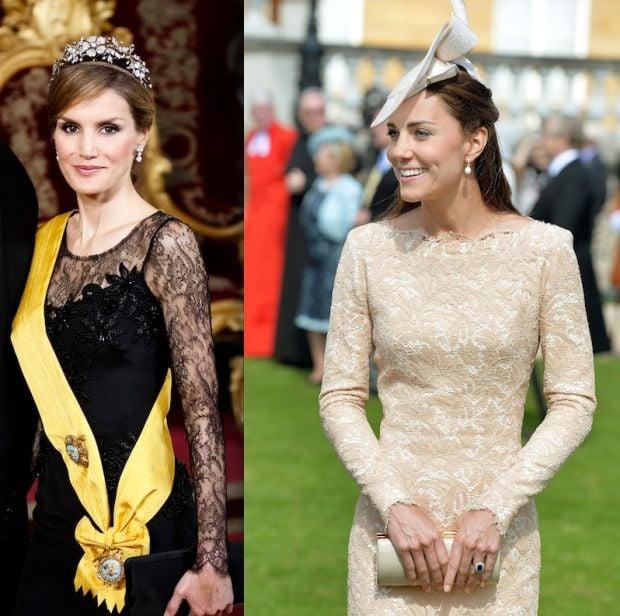 Queen-to-be Letizia, Kate Middleton