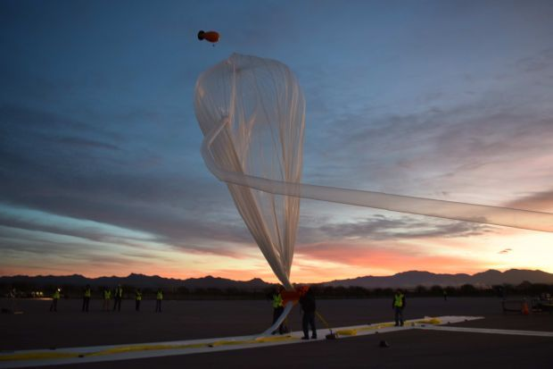 Helium balloon used in World View test flight
