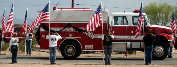 Funeral for firefighter William Warneke