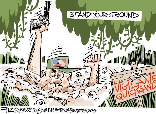 Daily Fitz Cartoon: Stand your ground