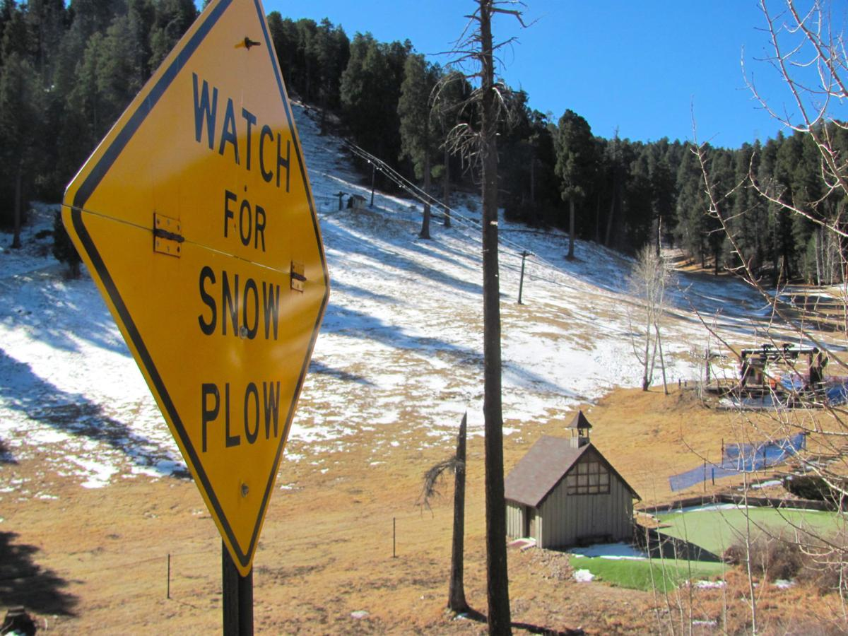 Snow plow sign