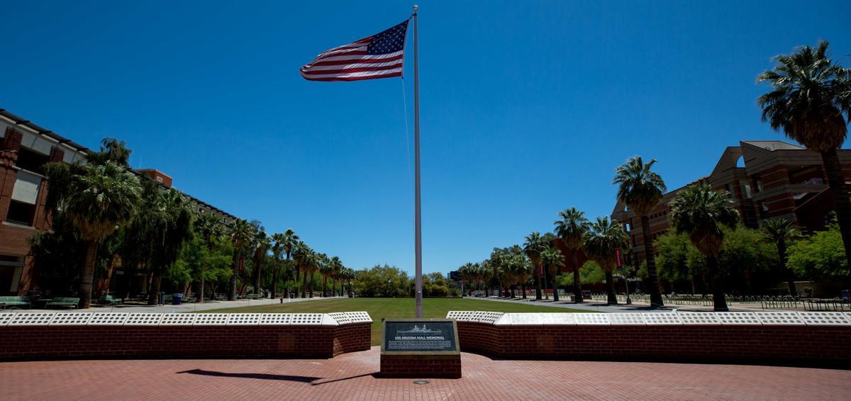 University of Arizona art walk: USS Arizona Mall Memorial