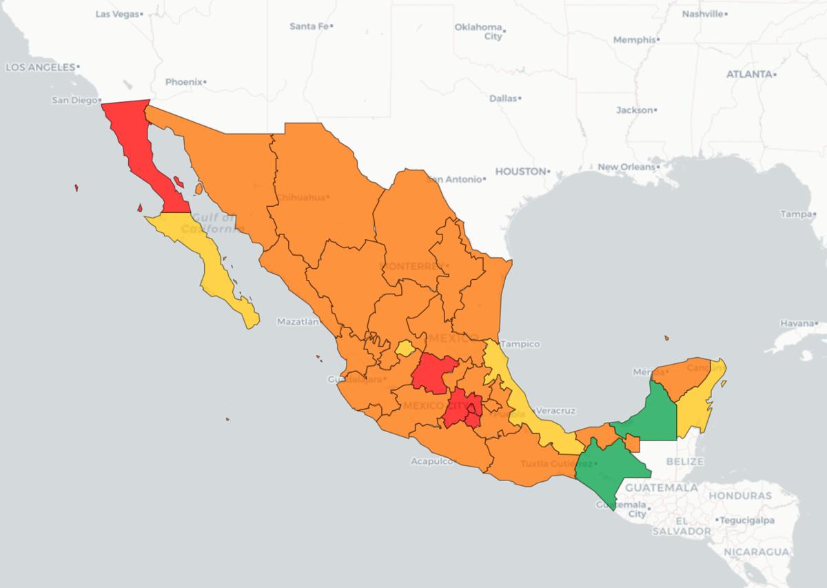 Mapa de Covid en México