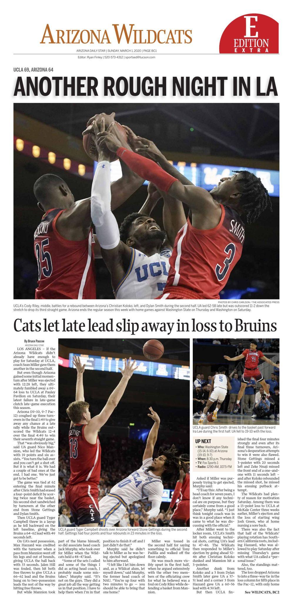 Arizona-UCLA basketball