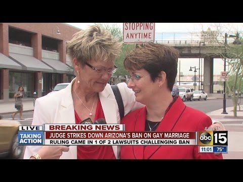 Judge strikes down Arizona's ban on gay marriage