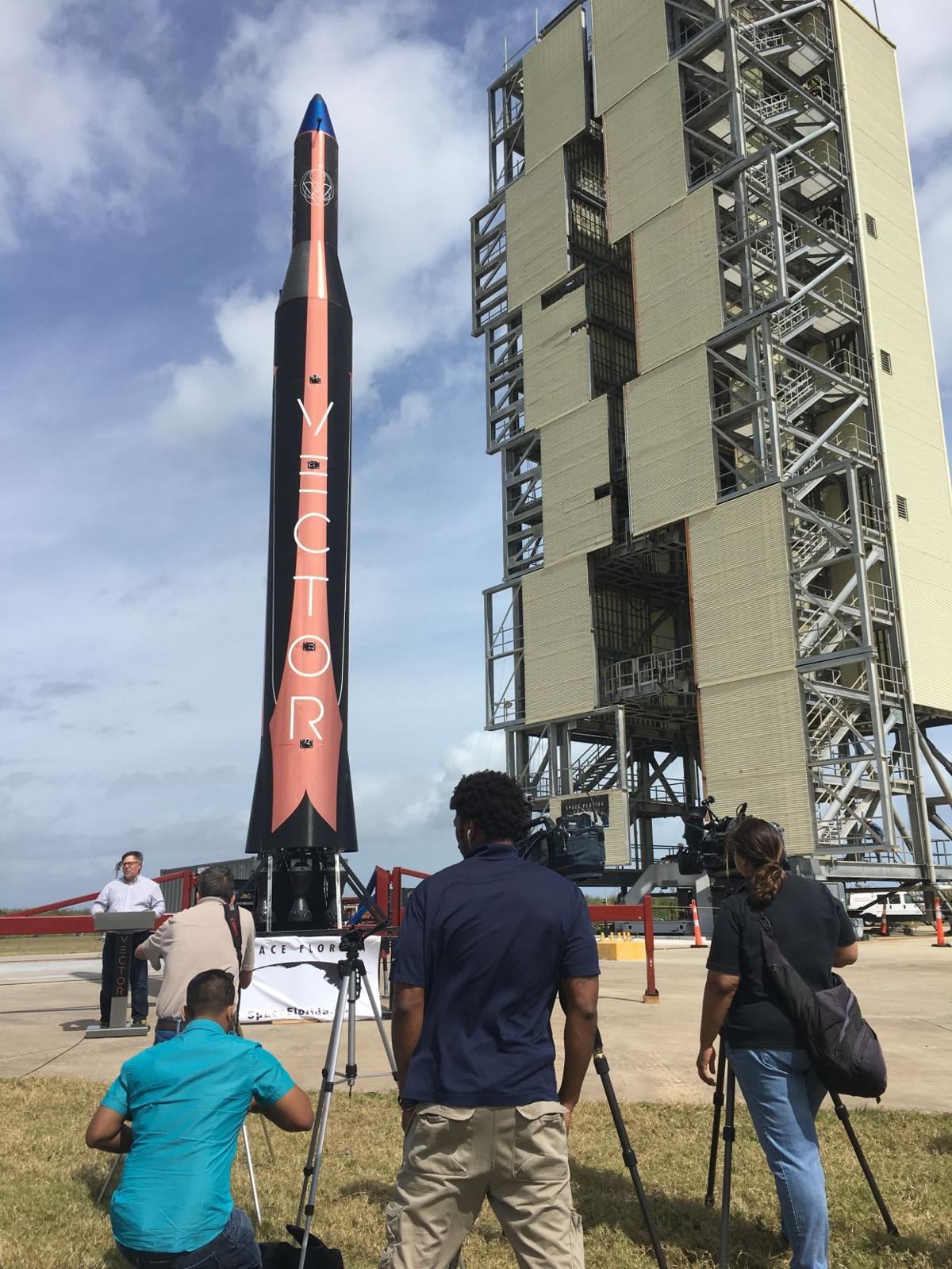 Vector Space shows off rocket at Kennedy Space Center