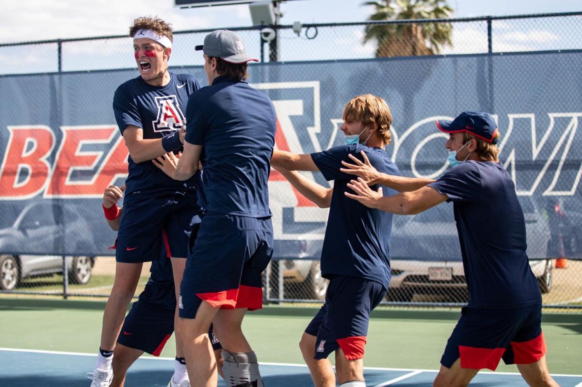 Arizona Men's Tennis team 2021 (Courtesy UA Athletics)