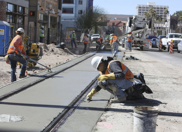 Streetcar work progressing