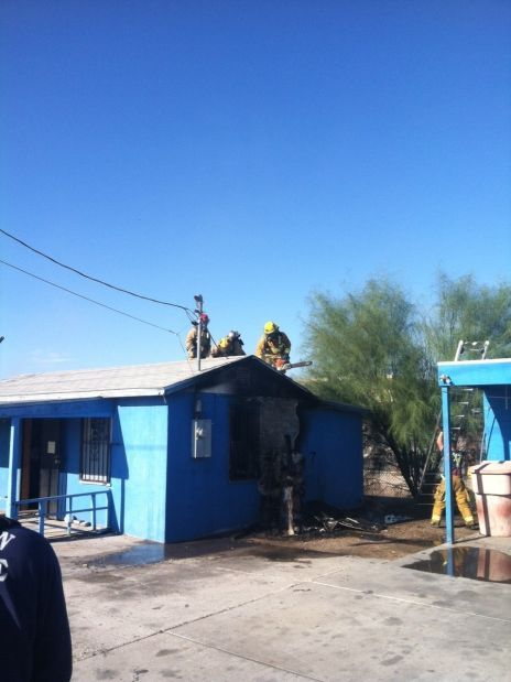 House fire on Tucson's south side impedes rush hour traffic