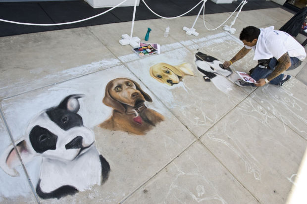 Check out the Chalk Art Festival at Park Place April 6-7