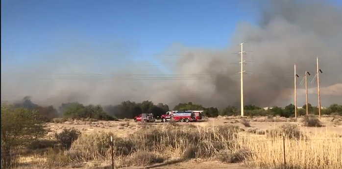 brush fire Thursday afternoon