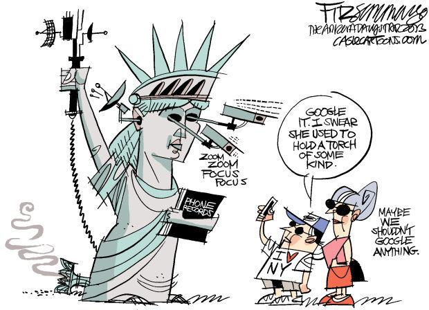 Daily Fitz Cartoon: Liberty