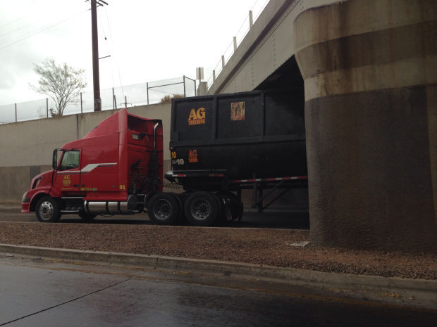 Photo of the day: Truck stuck at underpass