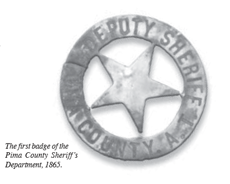 Jan. 1, 1865: First Pima County Sheriff is appointed