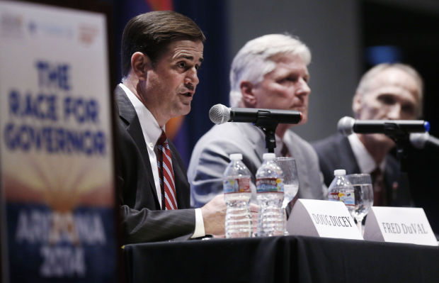 Arizona gubernatorial candidates debate in Tucson