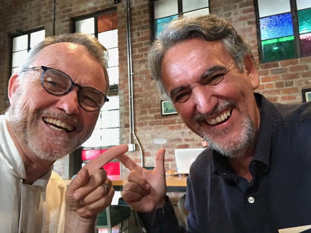 "Dueling doodlers, David Fitzsimmons and José ""Trino""Trinidad Camacho Orozco"