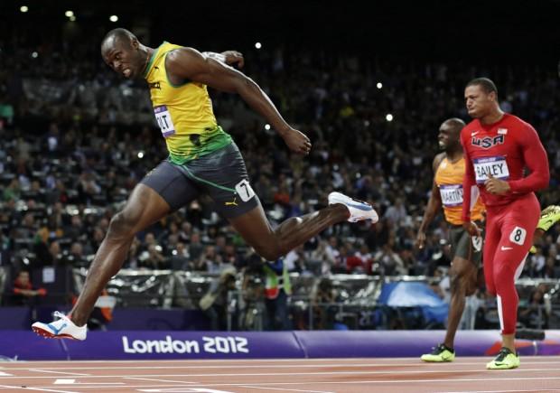 Olympics: Track: Galvanized Bolt shows steel
