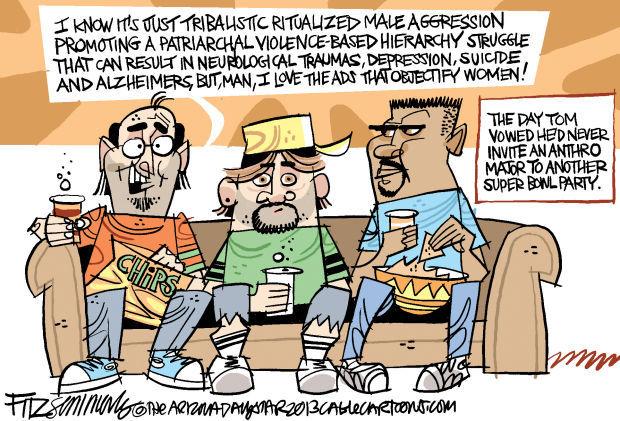 Daily Fitz Cartoon: Super Bowl