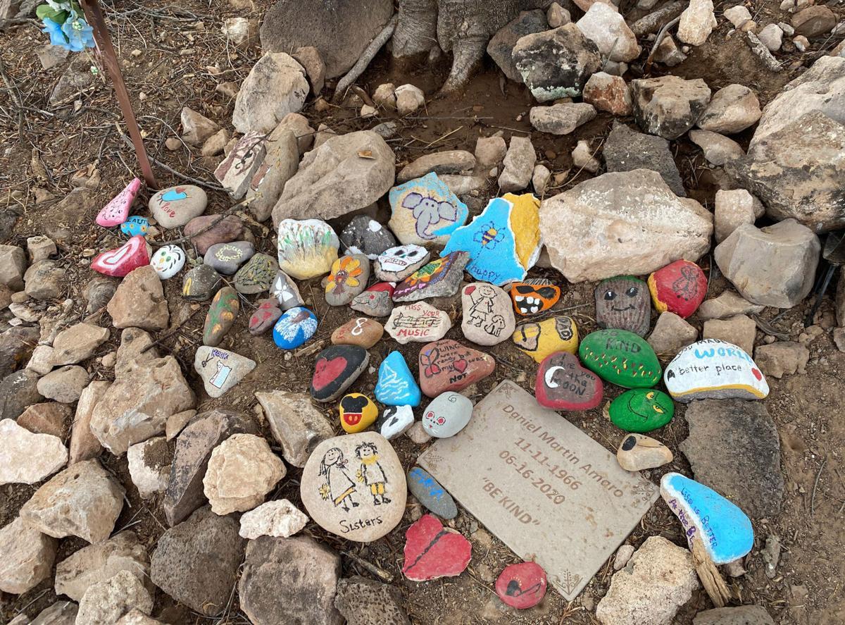 A Mountain memorial rocks