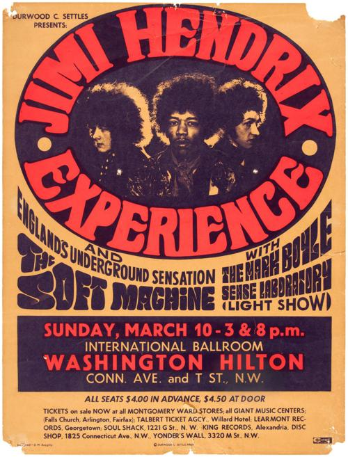 The Poster From A 1968 Jimi Hendrix Concert Brought In 6070 Recently At Hakes Auction