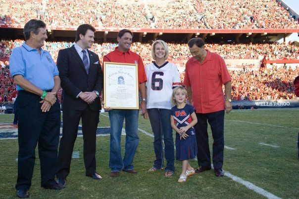 Chuck Cecil honored