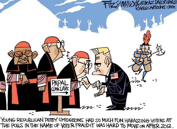 Daily Fitz Cartoon: Papal vote