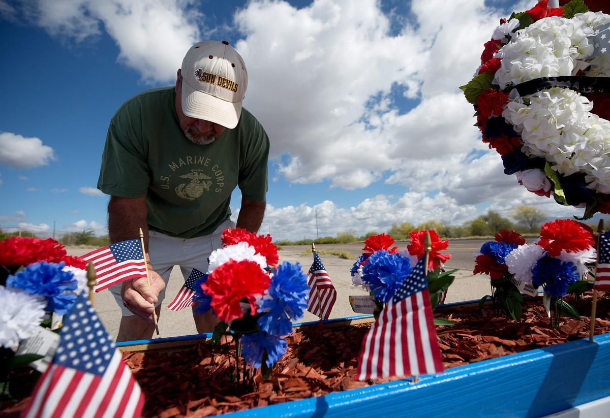 Veterans memorial in San Manuel