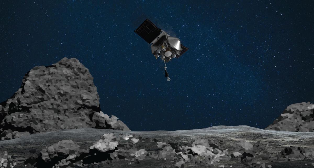 OSIRIS-REx rendering 2021