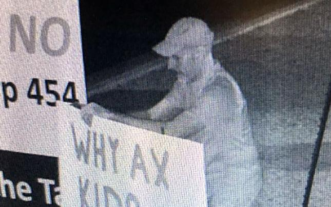 Man caught on camera defacing political signs sought by Oro Valley police