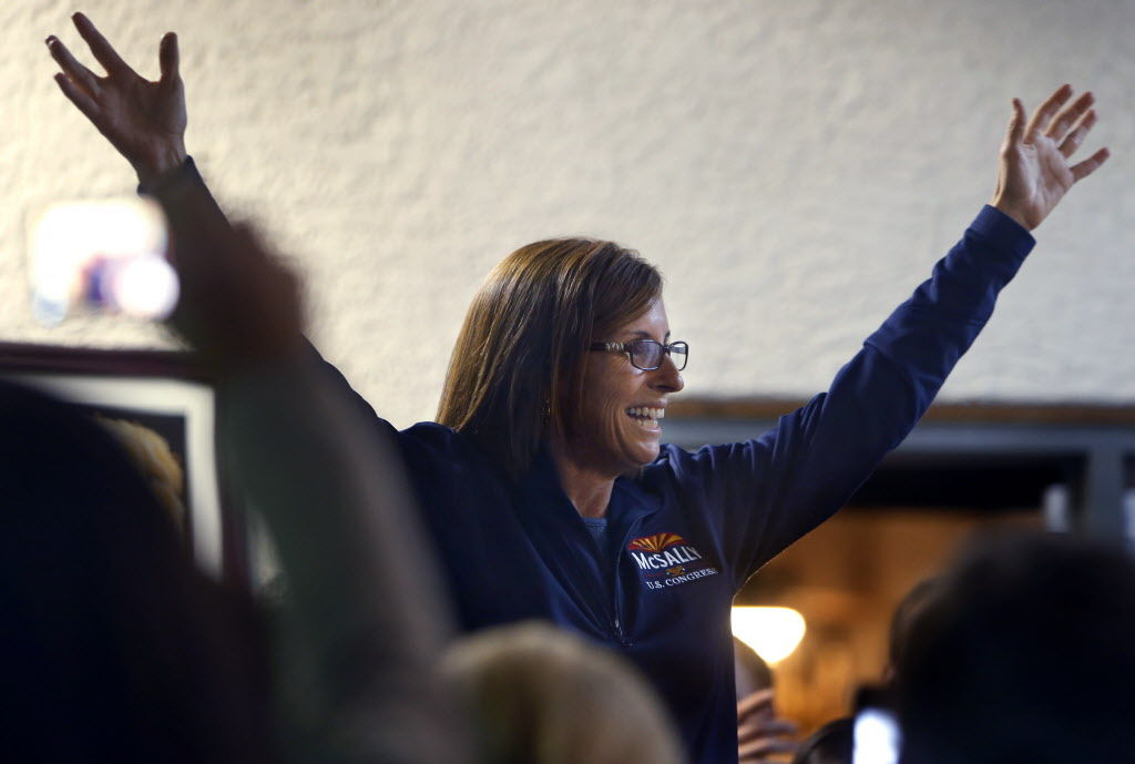 McSally claims victory