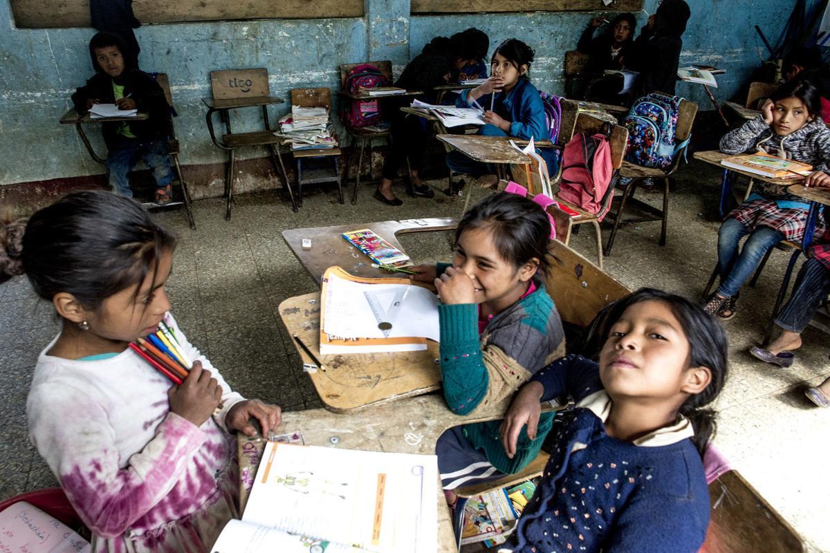 Guatemala migration, classroom