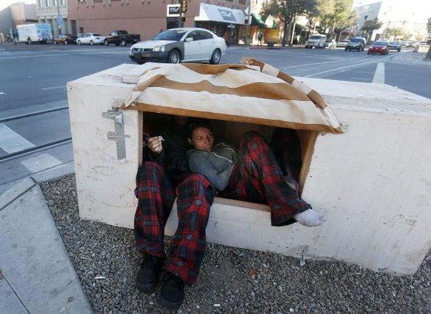 Homeless at Veinte de Agosto Park