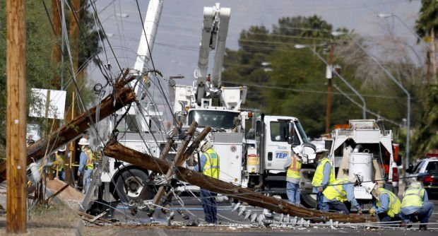 Vehicle crash causes power outage