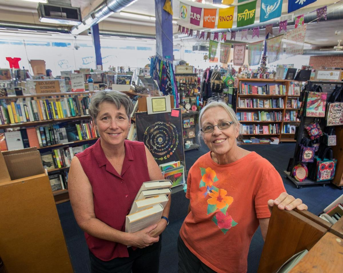 Kate Randall, left, and Trudy Mills, co-owners of Antigone Books In Tucson,  AZ for more than 25 years are pictured in the store on Wednesday, October  12, ...