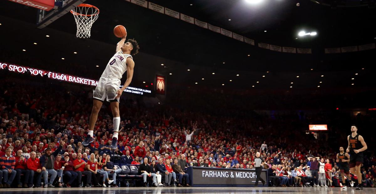 Arizona's freshman swingman, Josh Green had a solid showing in his team's win over USC.  (Photo: Kelly Presnell / Arizona Daily Star, via tucson.com.)