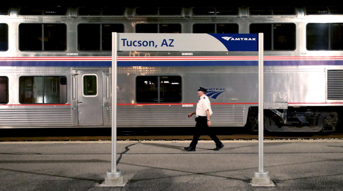 Amtrak Sunset Limited train in Tucson